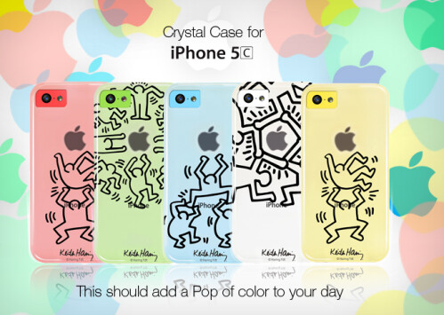 Keith Haring range of iPhone 5c cases (€14,99, or about $20)