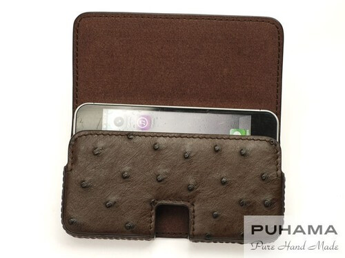 PUHAMA, ostrich leather iPhone 5c case ($121)