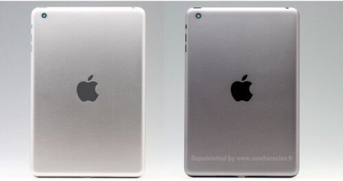 iPad mini 2 images compare aluminum to space grey