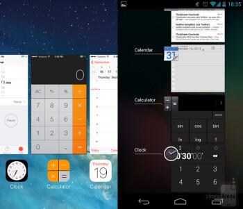 Multitasking on iOS 7 vs Android 4.3