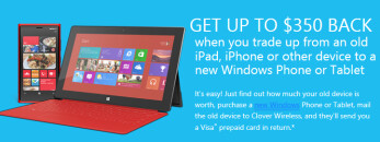 Get as much as $350 for your old iOS or Android device from Microsoft for a trade-in