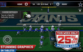 Madden NFL 25 is a free download on Android devices