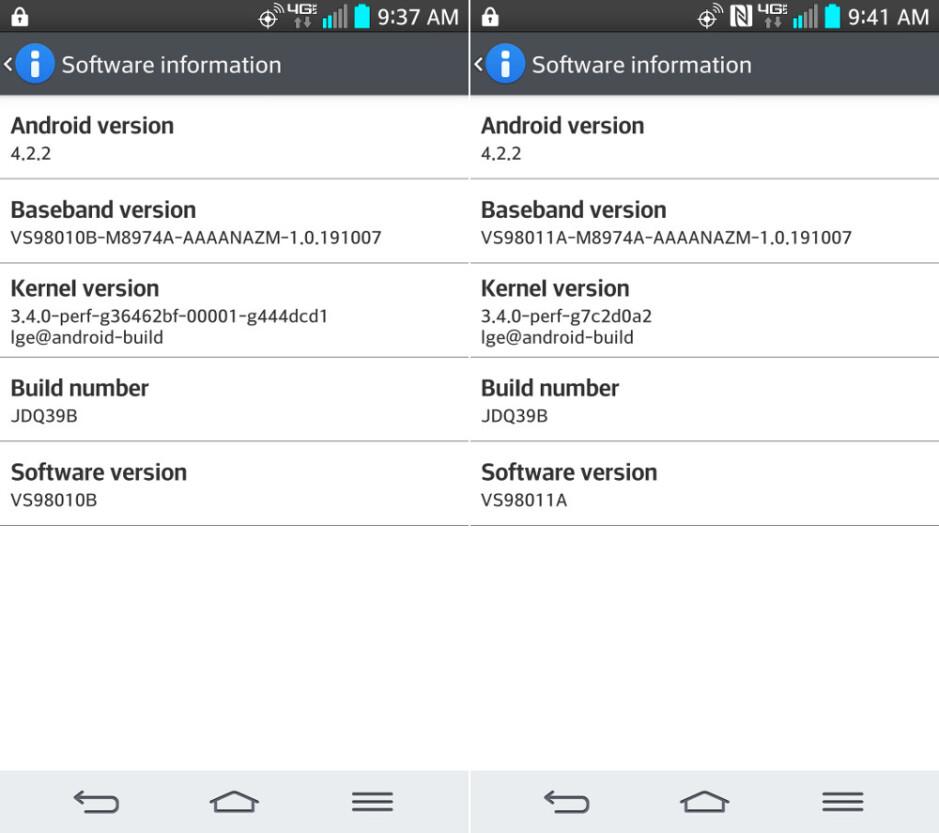 Verizon's LG G2 gets new software update