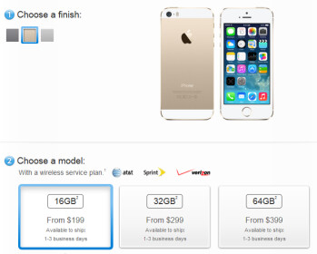The new Apple iPhone models are now available from Apple's website
