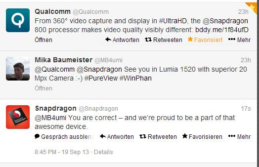 Qualcomm tweets Nokia Lumia 1520 phablet will sport Snapdragon 800