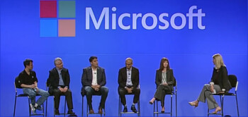 Microsoft's Terry Myerson (third from left) sees more Windows ARM tablets in Microsoft's future