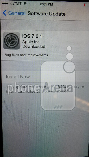 Apple is sending out iOS 7.0.1
