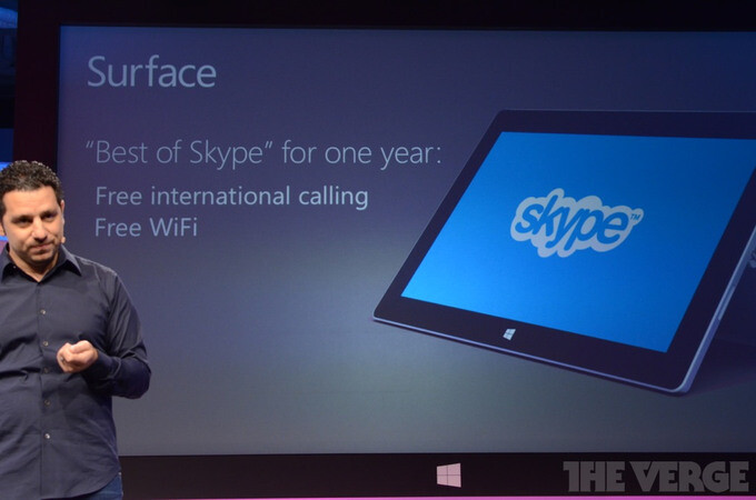 Microsoft Surface 2 tablets bundled with free Skype international calls