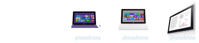 Microsoft Surface Pro 2 vs Pro vs Sony Vaio Tap 11 specs comparison