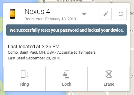 Remotely lock down your Android device