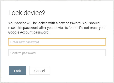 When locking, you have to set a password