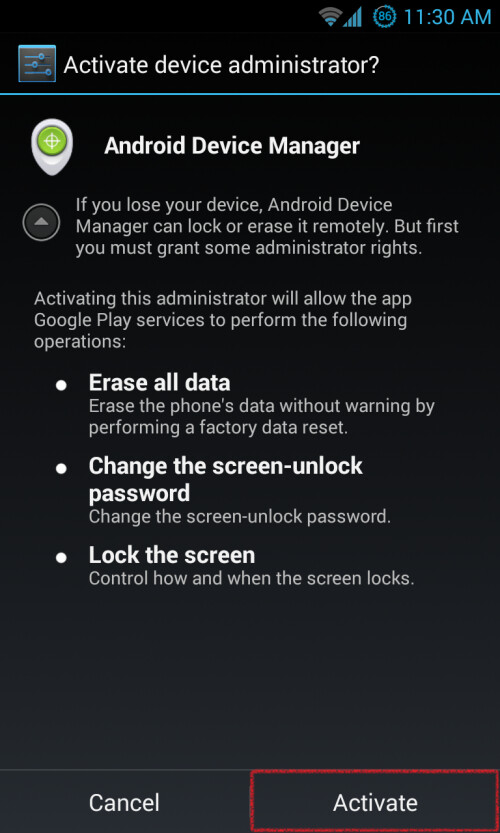 Step 3.2: Setting up Android Device Manager