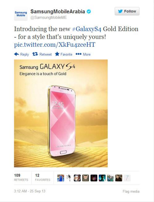 Samsung Galaxy S4 Gold edition