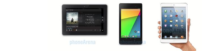 Kindle Fire HDX 7 vs Nexus 7 (2013) vs Apple iPad mini