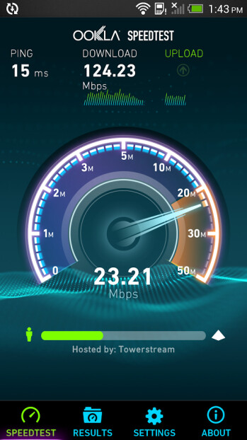 Screenshots of the new Speedtest.net UI for Android