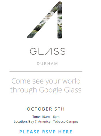 Google Glass will tour the U.S. with the first stop being Durham, North Carolina