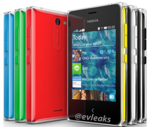 The Nokia Asha 502 - Nokia Asha 502 revealed in photograph