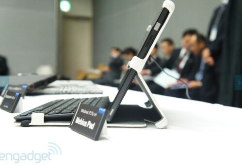 """Sharp shows 10"""" Mebius Pad - first waterproof Win 8 tablet sports record pixel density"""