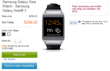 Samsung Galaxy Note 3 and Samsung Galaxy Gear smartwatch launch October 4th at AT&T stores and online