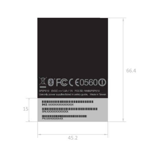 HTC One Max (T6) at the FCC