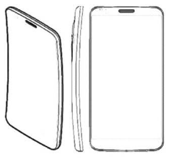 Sketch of the curved screen on the LG G Flex