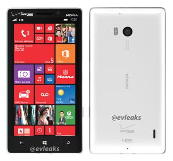 Nokia Lumia 929 leaks dolled up in white and Verizon logo