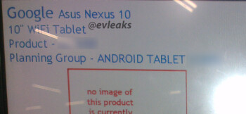 Google Nexus 10 tablet of Asus make on the way, might be based on the 300ppi Infinity