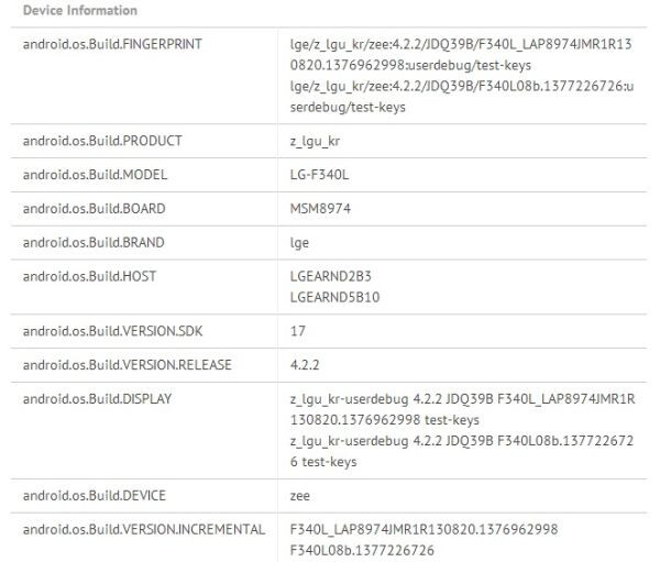 LG F340 benchmarked with HD 720p display, could be the curved G Flex flagship