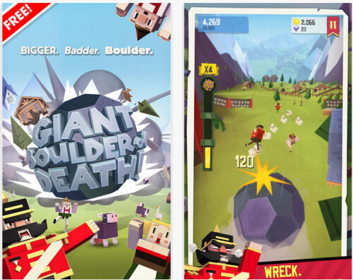 Giant Boulder of Death - Android, iOS - Free