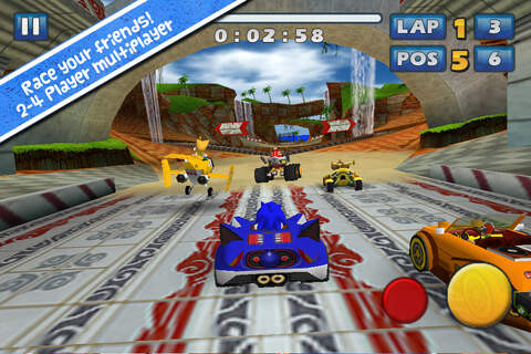 Sonic & SEGA All-Stars Racing - Android, iOS - $1.99