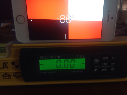Professional equipment reading vs iPhone 5s