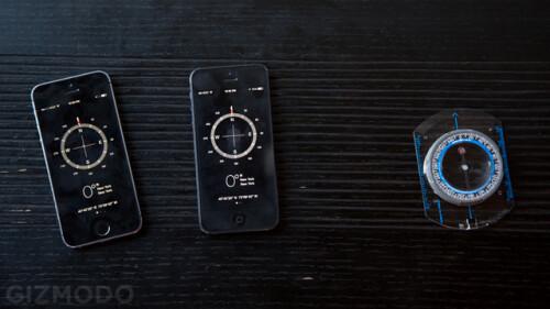 iPhone 5 vs 5s compass readings