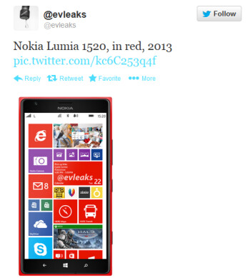 Nokia Lumia 1520 in red
