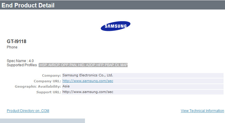 Unknown Samsung phone gets Bluetooth certified - Mystery Samsung phone gets Bluetooth certified