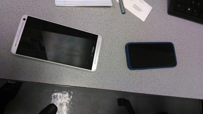 HTC One Max and the Apple iPhone 5
