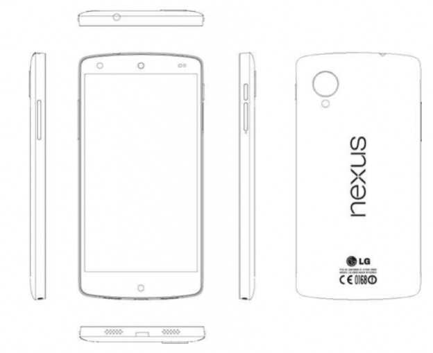 Sketch of the LG Nexus from the service manual - LG Nexus 5 service manual leaks bringing a treasure trove of information, including specs