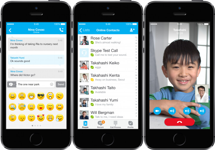 Microsoft refreshes Skype design for iOS 7