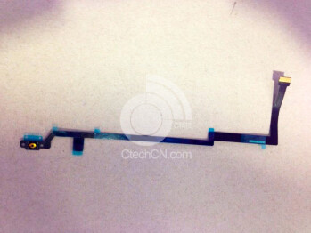 Apple iPad 5 ribbon cable appears, indicating a Touch ID fingerprint unlock is in store