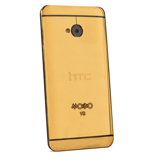 Bling! Golden HTC One is official, but you can't pay its $4400 tag