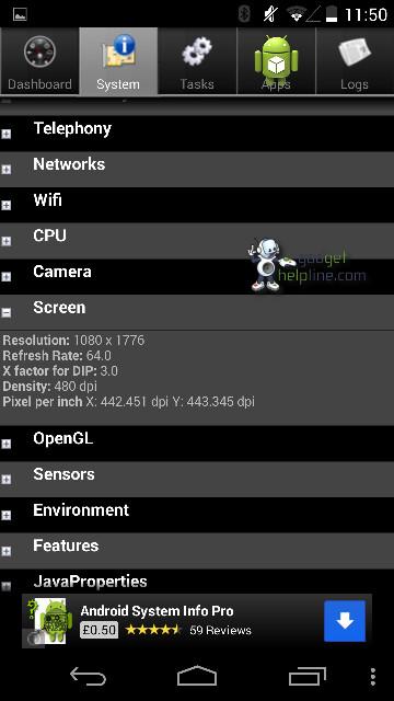 Nexus 5 system info screenshots emerge