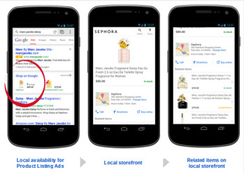 Google shopping now brings localized results