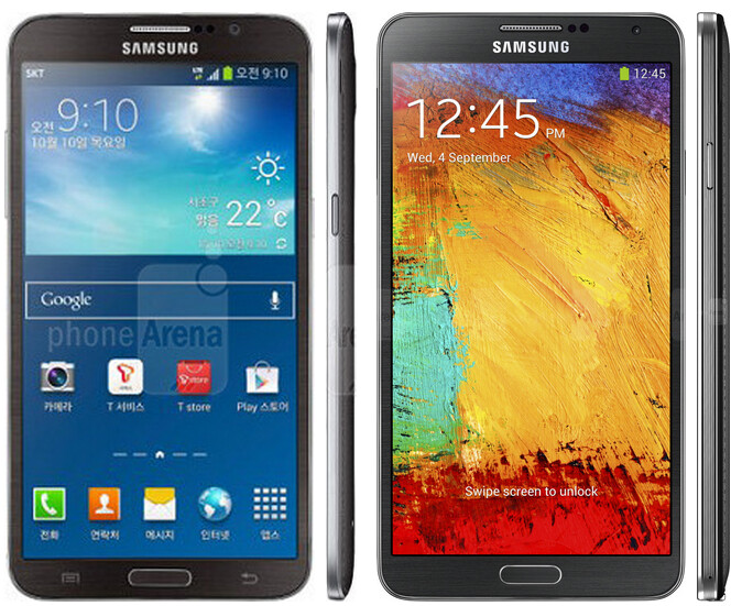 Samsung Galaxy Round vs Galaxy Note 3 size comparison: those curves come thin