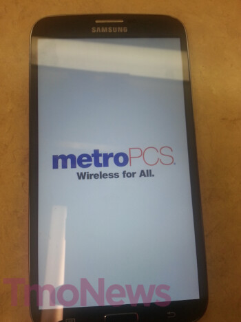Leaked photo of Samsung Galaxy Mega 6.3 shows the phone wearing MetroPCS branding