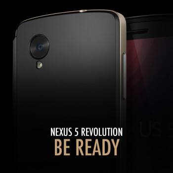 Nexus 5 render surfaces, teased by case-maker Spigen