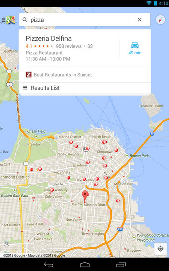 Screenshots from Google Maps - Google Maps for Android receives update