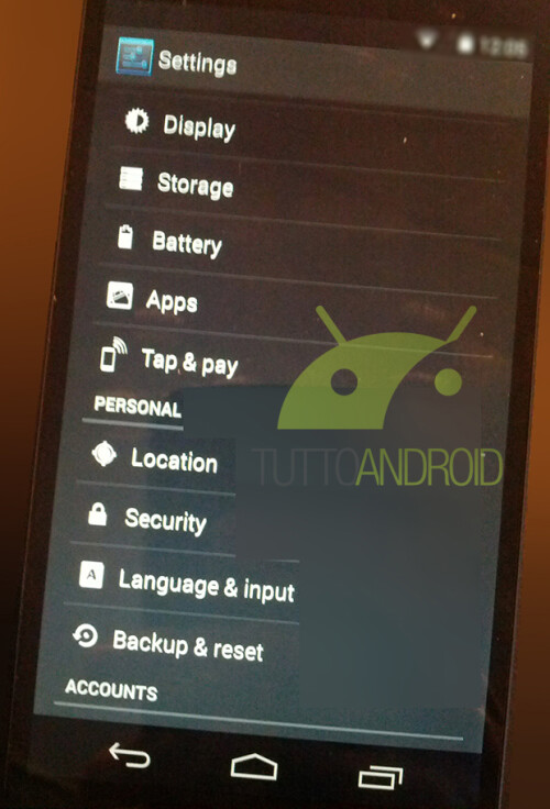 New leaked images of Nexus 5 and Kitkat 4.4 show payments built in and more