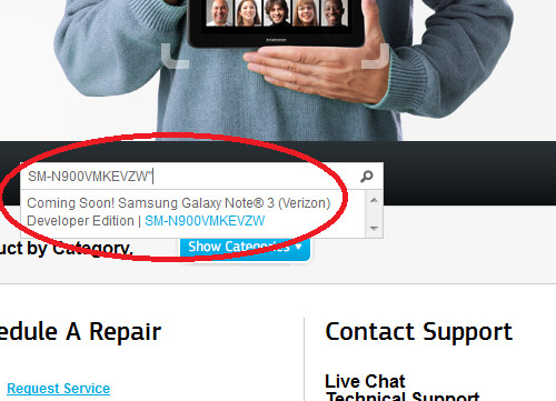 Samsung's support site says that a Samsung Galaxy Note 3 Developer Edition is coming - Verizon to offer Samsung Galaxy Note 3 Developer Edition with unlocked bootloader