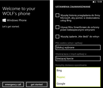 Screenshots from custom ROM for Samsung ATIV S