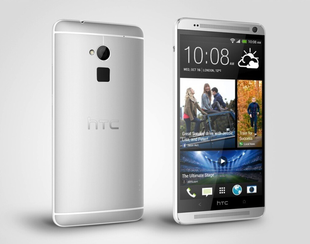 """HTC One max official: 6"""" phablet comes with Fingerprint ..."""