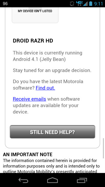 Motorola corrects typo on its update intentions for the Motorola DROID RAZR MAXX HD and the Motorola DROID RAZR HD